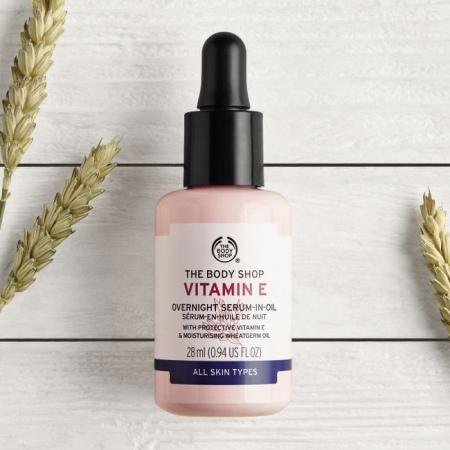 E vitamīna nakts serums-eļļa