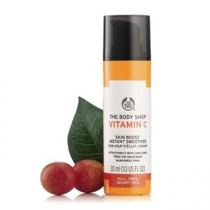 C vitamīna nogludinošs līdzeklis sejai