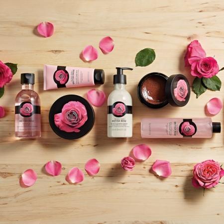 Britu rozes ķermeņa losjons—esence ādas mirdzumam