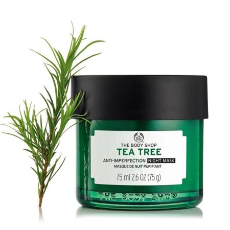 Tējas koka nakts maska problemātiskai ādai