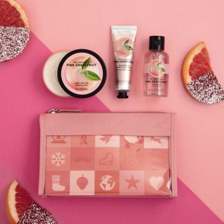Rozā greipfrūta dāvanu somiņa