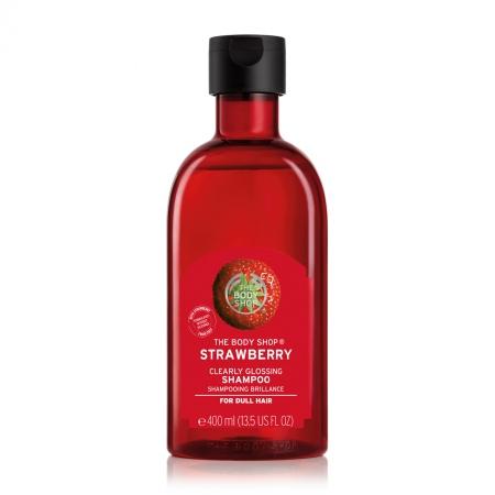 Zemeņu šampūns matu spīdumam
