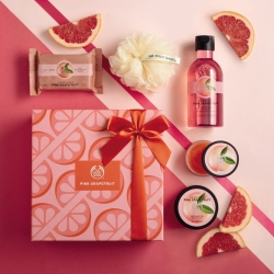 Rozā greipfrūta dāvanu komplekts