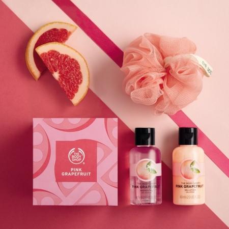 Rozā greipfrūta mini dāvanu komplekts