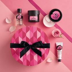 Britu rozes dāvanu komplekts apaļā kastītē