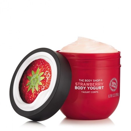 Zemeņu ķermeņa jogurts