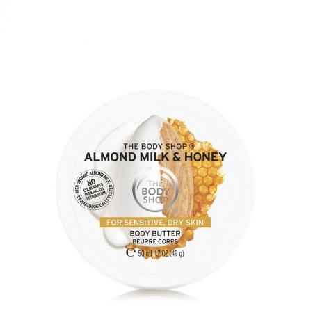 Mandeļu piena un medus nomierinošs un atjaunojošs ķermeņa sviestkrēms
