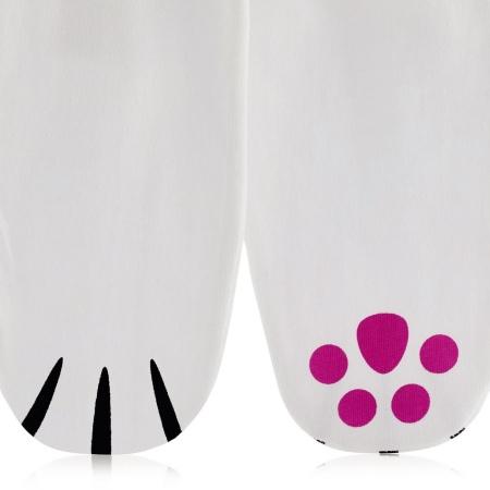 Kokvilnas mitrinošas zeķes ar ķepu dizainu