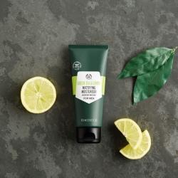 Zaļās tējas un citrona matējošs sejas krēms vīriešiem