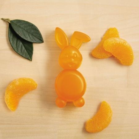 Sacumas mandarīna ziepes zaķa formā