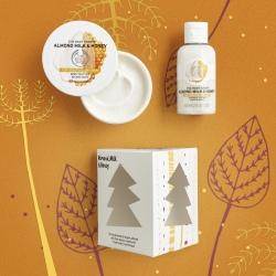 Mandeļu piena un medus mini dāvanu komplekts