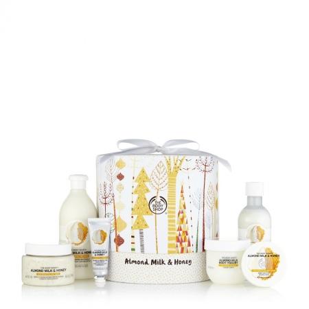 Mandeļu piena un medus karaliskais dāvanu komplekts