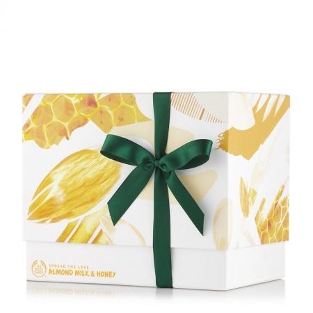 Mandeļu piena un medus lielais dāvanu komplekts
