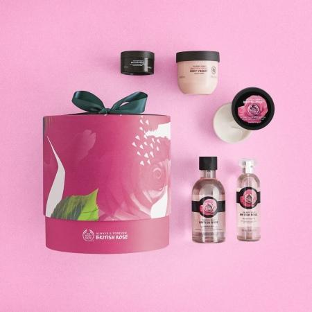 Britu rozes karaliskais dāvanu komplekts