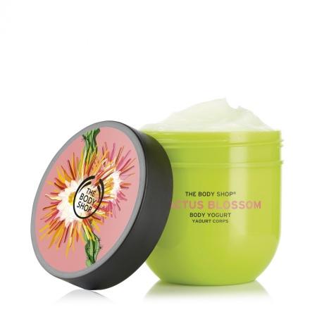 Kaktusa ziedu ķermeņa jogurts