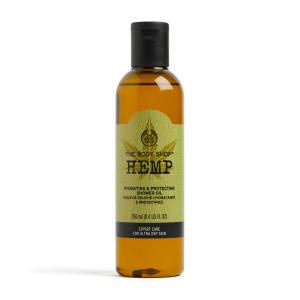 Kaņepju mitrinoša un ādu aizsargājoša dušas eļļa