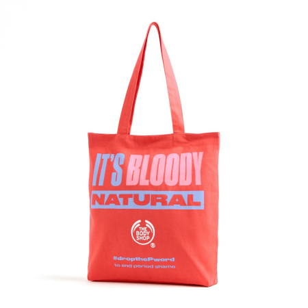 "Auduma maisiņš ""It's Bloody Natural"""