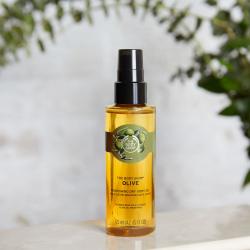 Olīvu sausā eļļa ķermenim