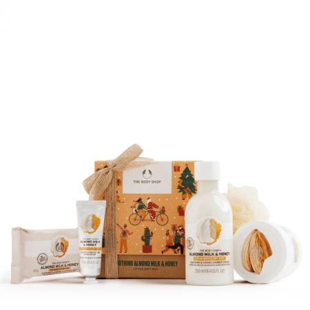 Mandeļu piena un medus dāvanu komplekts