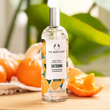 Sacumas mandarīna smaržūdens ķermenim